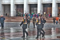 Change of honor guards performed by cadets