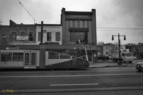 Sleek looking tram