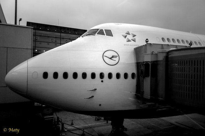 747 at the gate in Frankfurt International