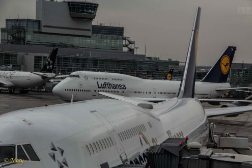 Another 747 passing in the background