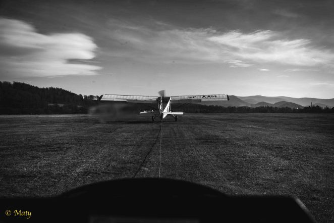 Yak-12M ready to roll with the tow job