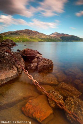 Langzeitbelichtung Loch Lomond Schottland