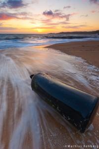 Wellen-Bretagne-Langzeitbelichtung