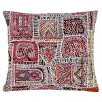 vintage Rabari embroidered cushion