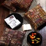vintage embroidered floor cushion