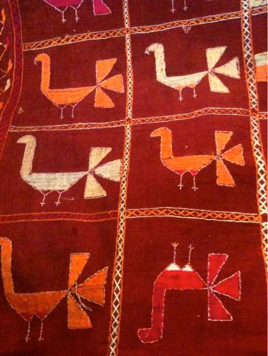 Phulkari-shawl---birds