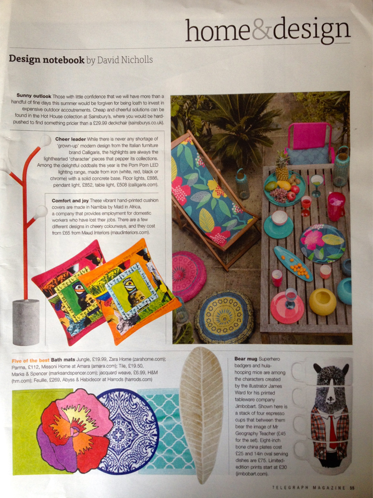African-cushions-in-the-Telegraph-magazine