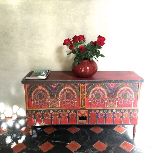 painted chest riad due marrakech maud interiors