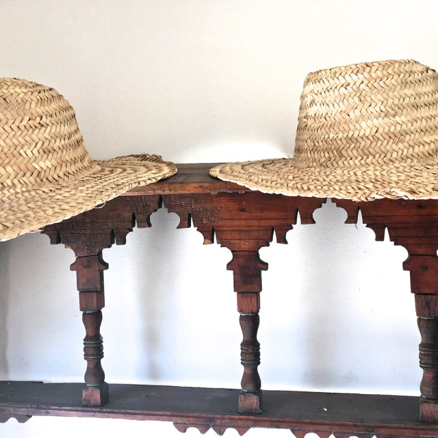 Sun hats Riad Due Maud interiors