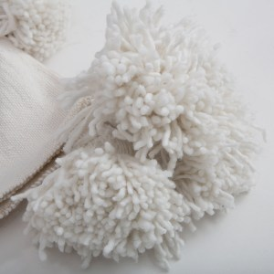 cotton pom pom blanket