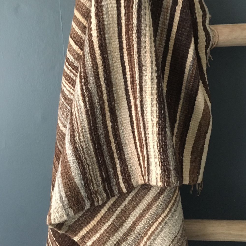 vintage hand-woven Moroccan blanket