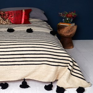 striped Moroccan blankets