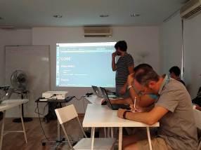 Ignacio Cruzo en el Contributor Day de la WordCamp Sevilla 2016