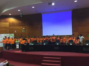 Voluntarios de la WordCamp Sevilla 2016.