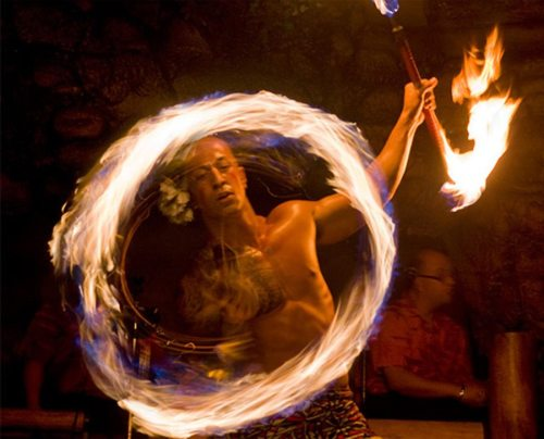 Hyatt Luau Fire dancer Drums Of The Pacific