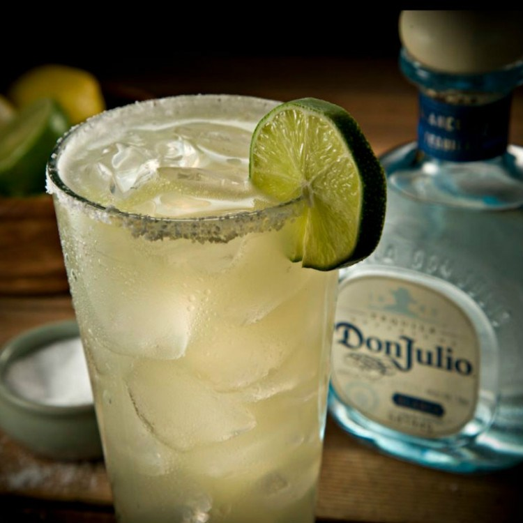 top shelf margarita with don julio tequila - maui happy hours