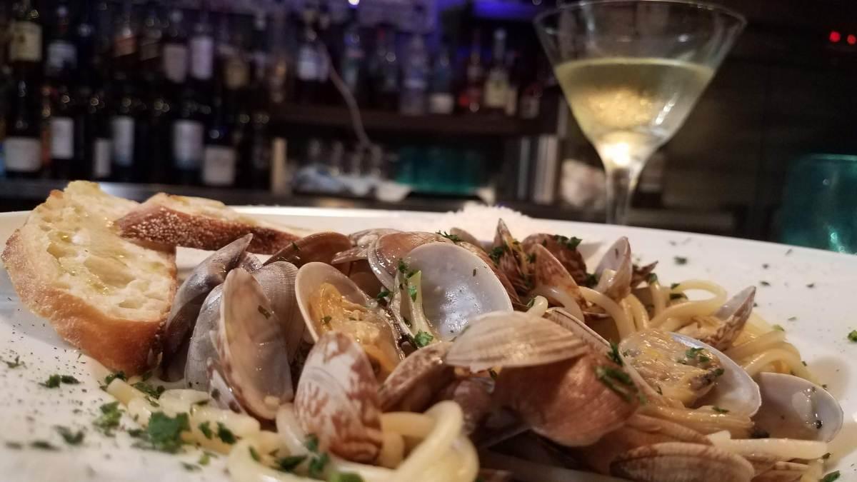 spaghetti with clams at pour house kapalua maui - best maui happy hour