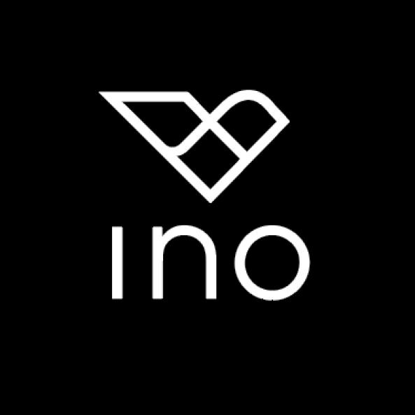 ino scarf boutique logo - handmade silk scarves