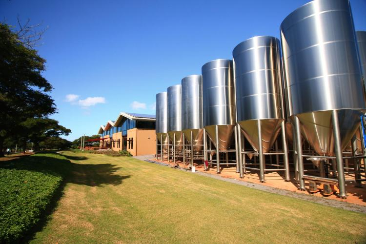 Brewery Tanks at Maui Brew Co Kihei