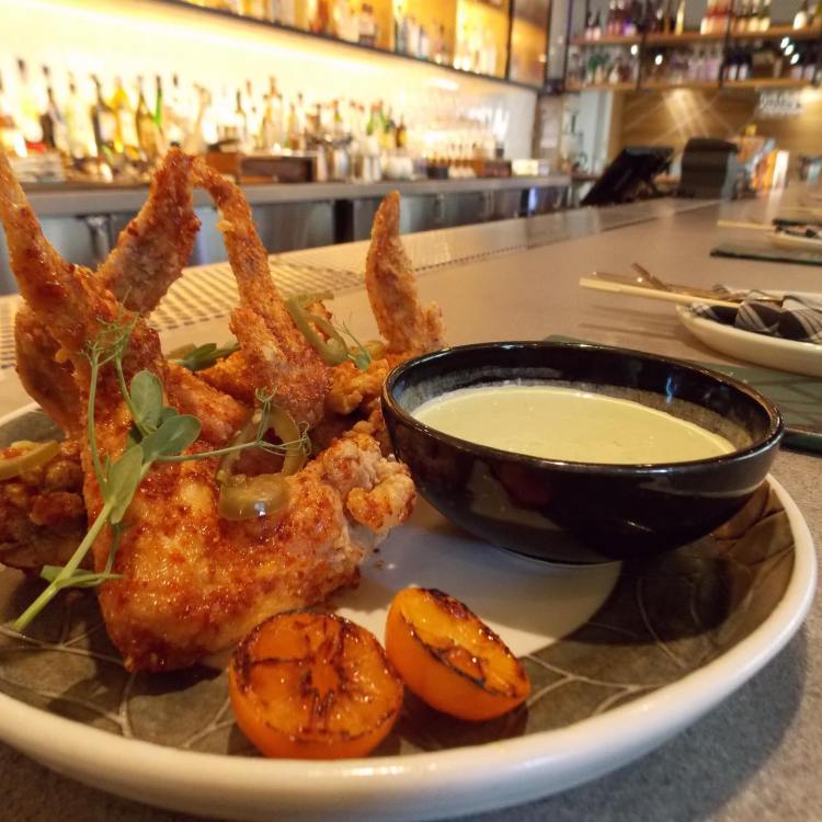 chicken appetizer at lineage maui - best happy hour near me