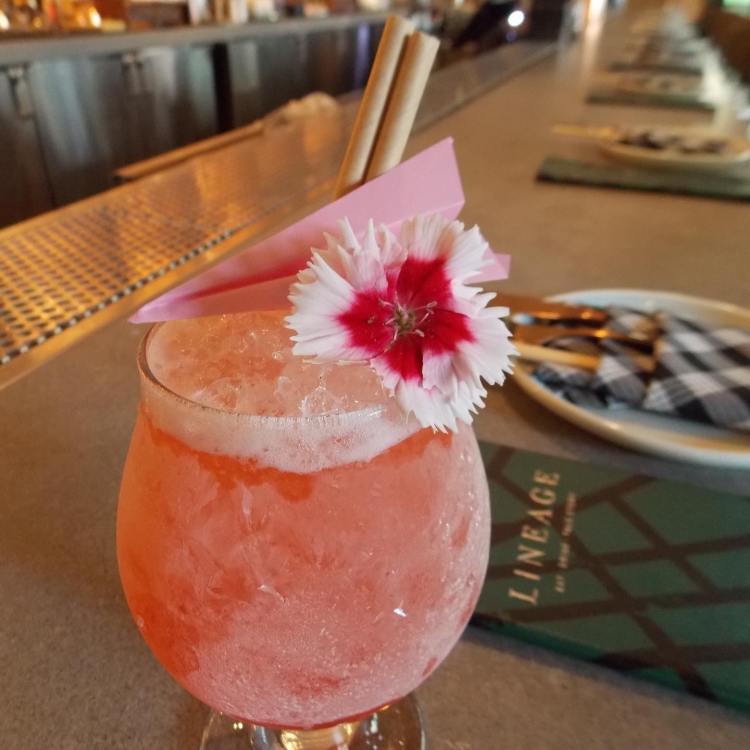 happy hour cocktail at lineage maui