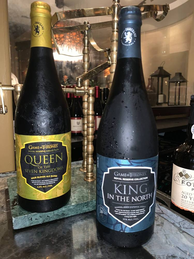 game of thrones beer - queen of the seven kingdoms king in the north - sour blonde ale blend - barrel aged imperial stout