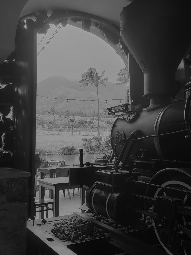Old Train in Maui Hawaii - Maui Tropical Plantation