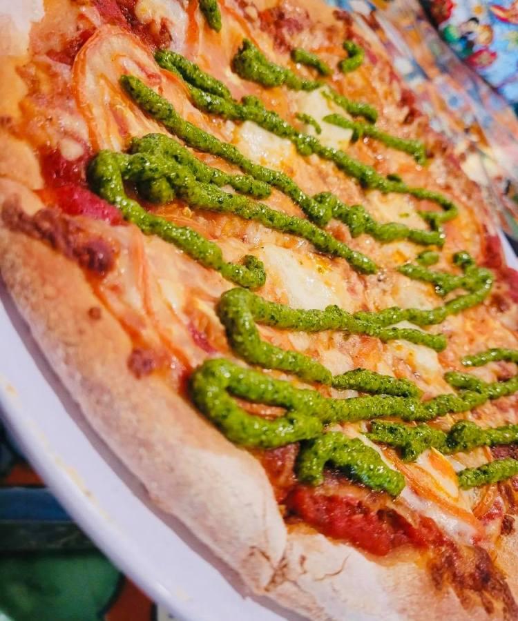 Caprese pizza at La Catrina Happy Hour Maui