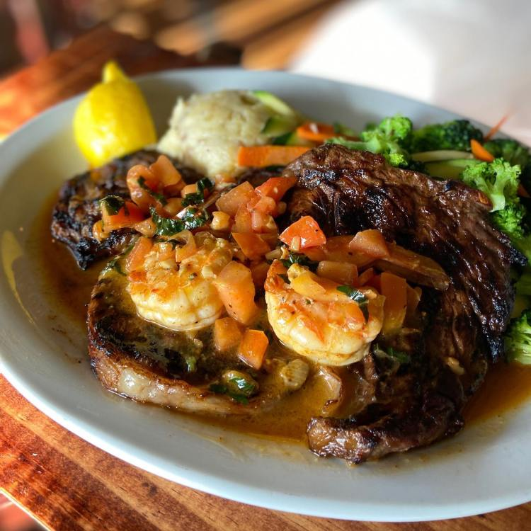 Ribeye steak at Captain Jacks Maui Restaurant