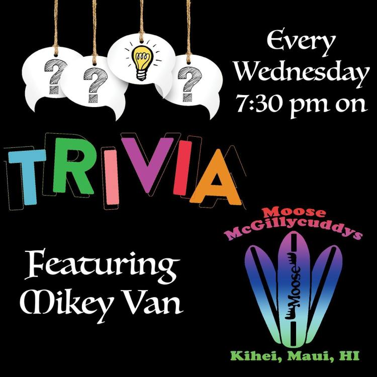 Live pub trivia at Mooses Maui