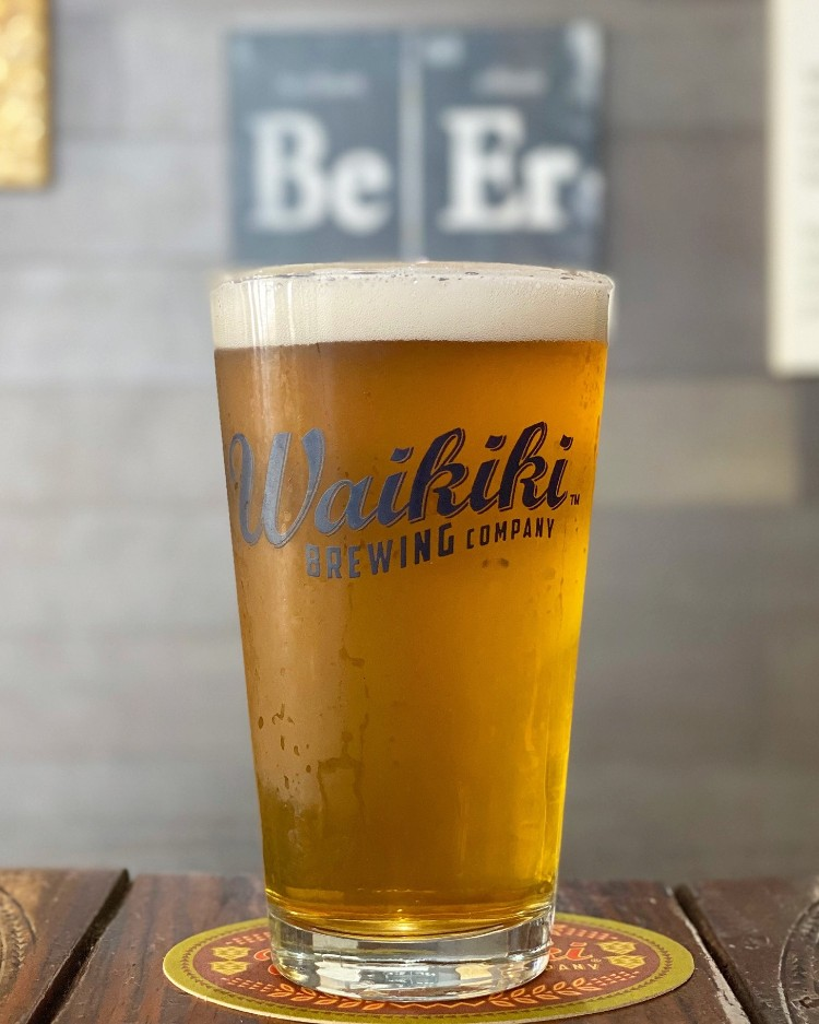 What is the happy hour at Waikiki Brewing Company in Wailea Maui