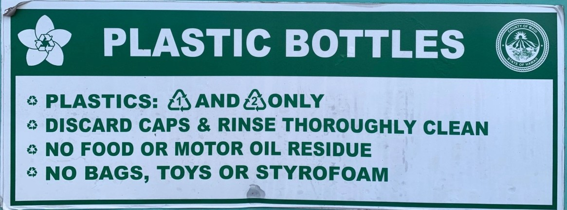 recycle plastic bottles maui