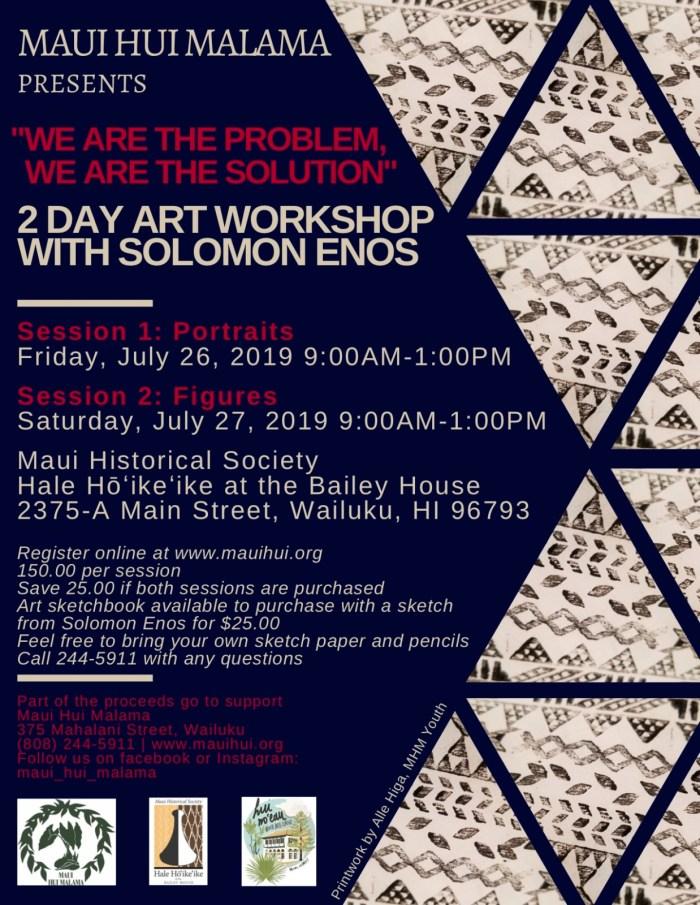 Solomon Art Workshops--'Ohe Kapala Print copy