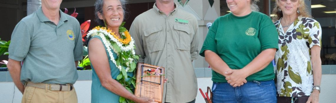 Know a landscaper helping prevent the spread of invasive species? Nominate him/her for the 2019 Mālama i ka ʻĀina Award