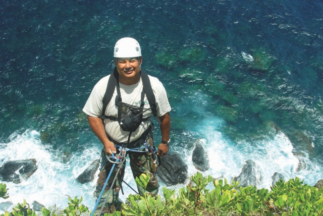 MISC field crew leader Darrell Aquino is up for any challenge