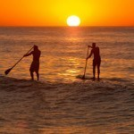sunset paddle session