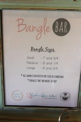 Bangle Bar Sign Menu Options Paia Maui Jewelry