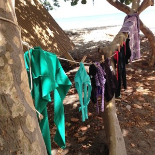 drying swim suits