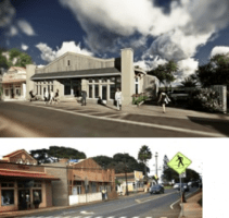 Hana Hwy Retail Space Rendering and While Under Construction