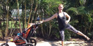 exercising with the stroller