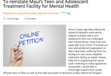 Maui teen Mental health