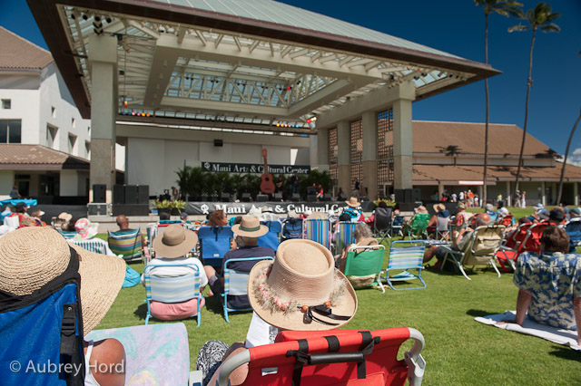 low back lawn chair armless office uk maui now free annual ukulele festival next weekend bring those backed chairs blankets and giant hats photo courtesy aubrey hord