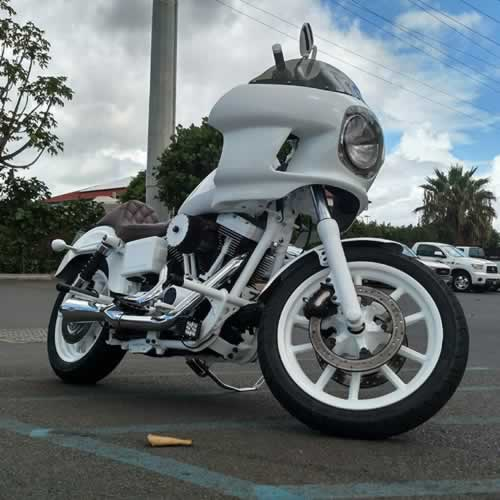 white out bike Harley Davidson