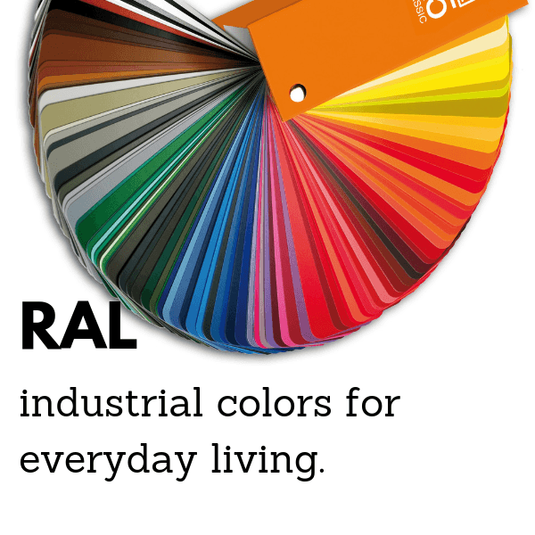 RAL industrial colors for everyday living