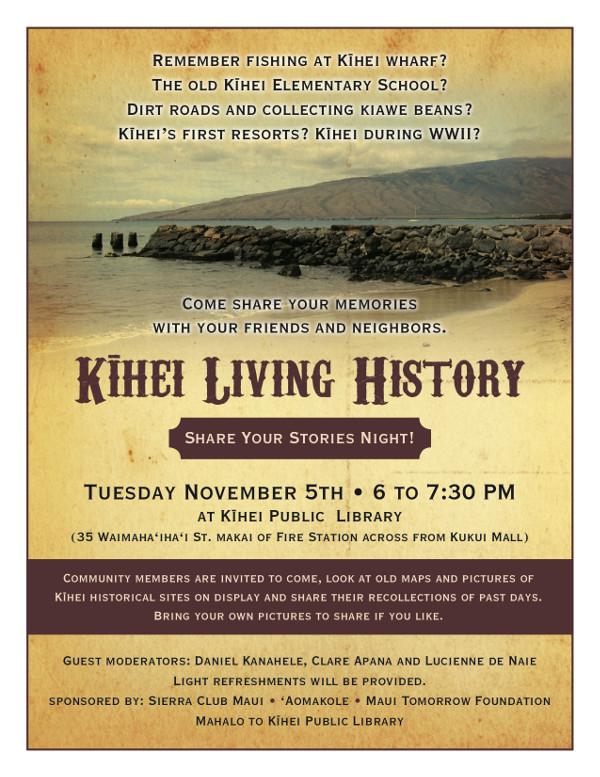 Kihei Living History Flyerv2