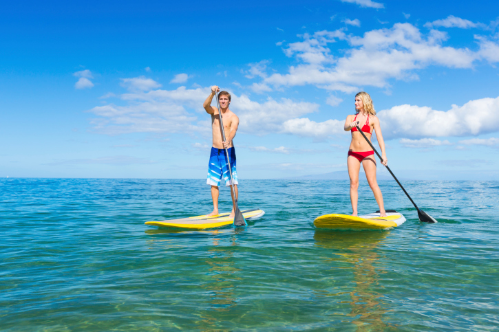 Rent Stand Up Paddle Boards at the Maui Snorkel Store at Sugar Beach Resort near Kihei, Wailea, Makena