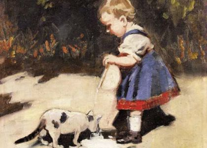 Theodor von Hörmann - Alimentando al gato