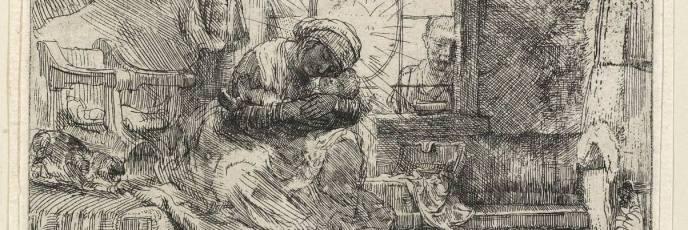 Rembrandt Harmenszoon - La Sagrada Familia del gato