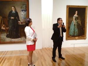 El Curador Víctor Rodríguez Rangel y la Doctora Sara Baz Sánchez