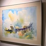 """""""Metamorphosis"""", Javier Gomesoto, acuarela sobre papel, exposición """"En El Aire / Up In The Air"""""""
